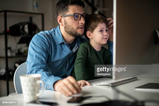 Apprentissage avec papa