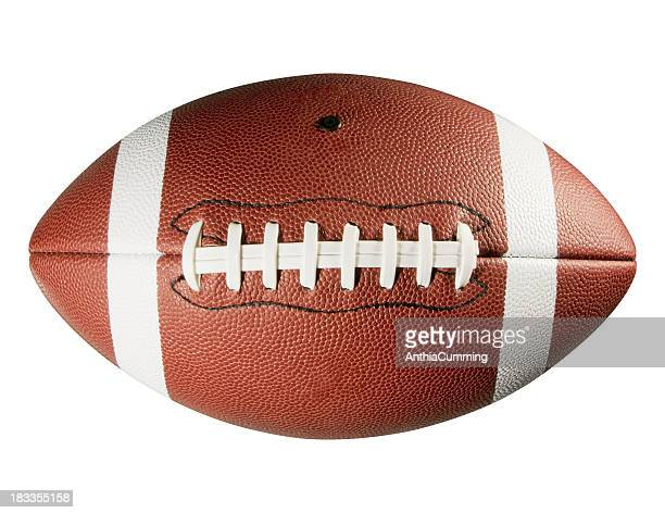 レザーのアメリカンフットボールに白背景