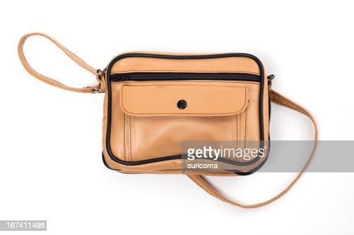 leather bag : Bildbanksbilder
