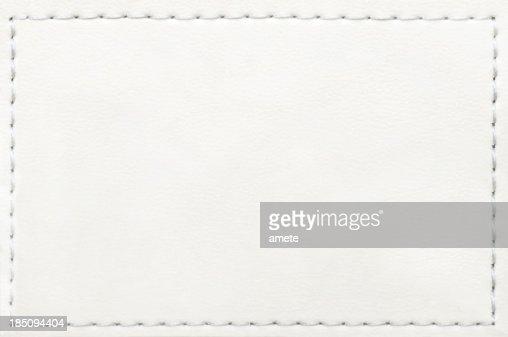 Etichetta di Jeans in pelle bianco