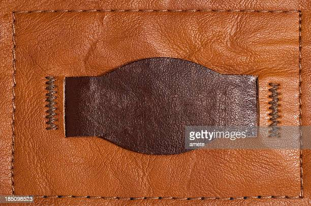 Leather Blank Jeans Label