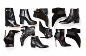 Leather boots isolated on white background ( with clipping path)