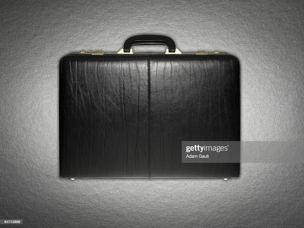 Leather briefcase : Stock Photo