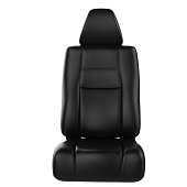 3d rendering black leather car seat isolated on white