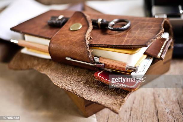 Leather Cover for Notebook and Index Cards
