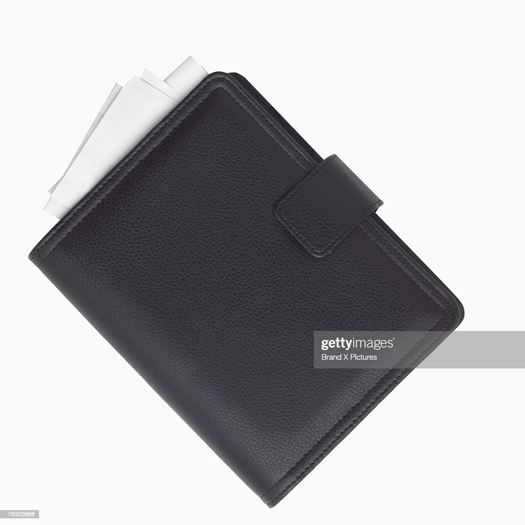 Leather day planner : Stock Photo