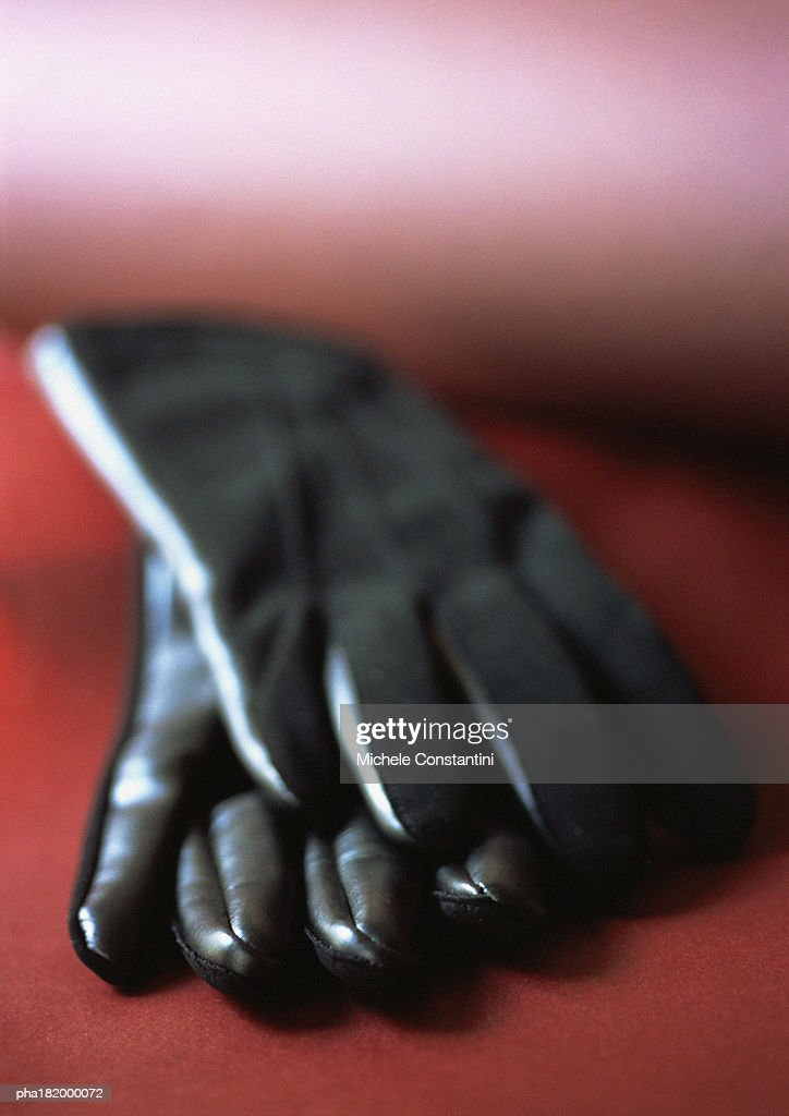 Leather gloves, close-up
