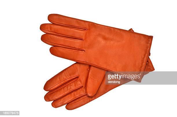 Leather luvas de
