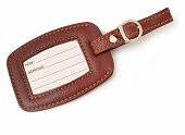 Leather luggage tag (french version)
