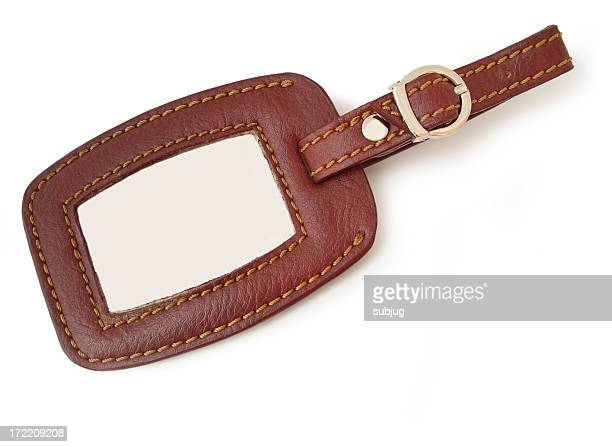 Leather luggage tag (blank version)