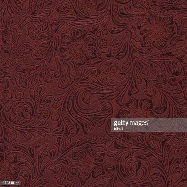 leather scroll pattern background texture
