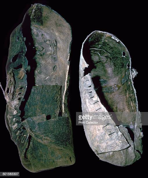 Leather shoes from the salt mines at Hallstatt Austria 6th century BC