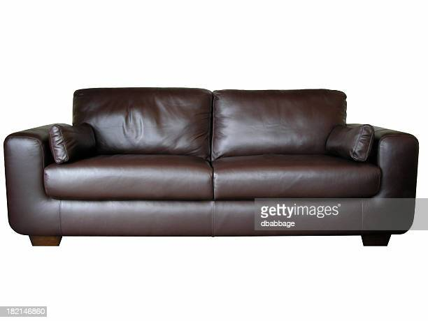 Leather sofa (isolated)
