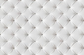 Leather Sofa Texture Seamless Background, White Leathers Upholstery Backgrounds Pattern