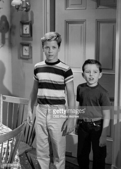 Leave It To Beaver episode 'Captain Jack' Tony Dow and Jerry Mathers Image dated August 8 1957