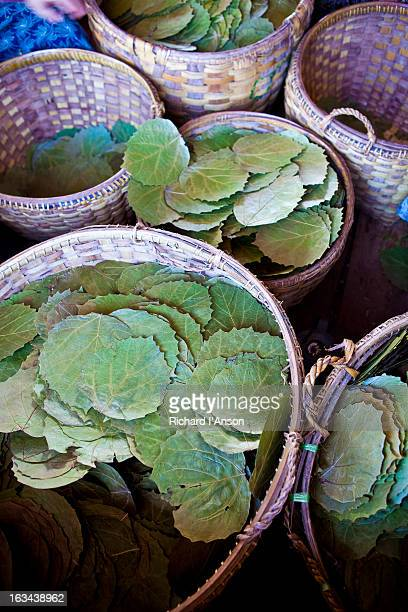 Leaves for cheroots in baskets