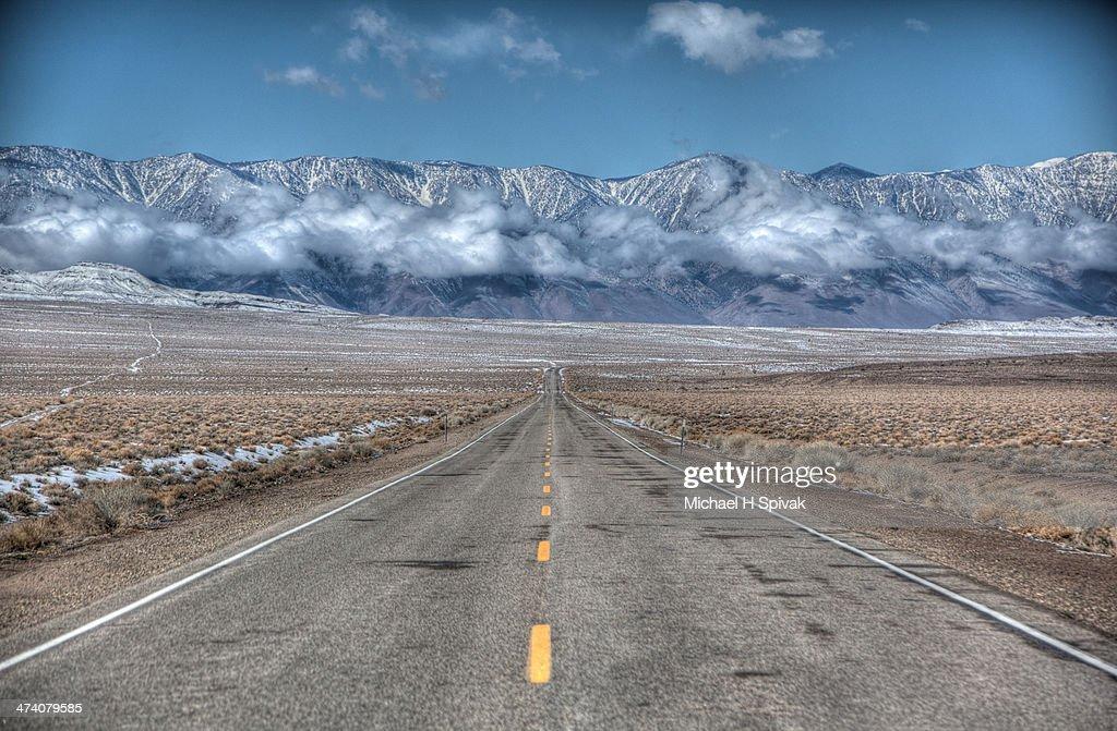 Leaving Death Valley California