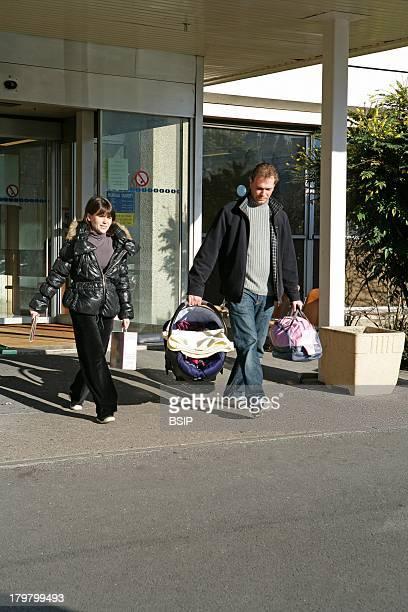 Leaving Hospital Rouen hospital France