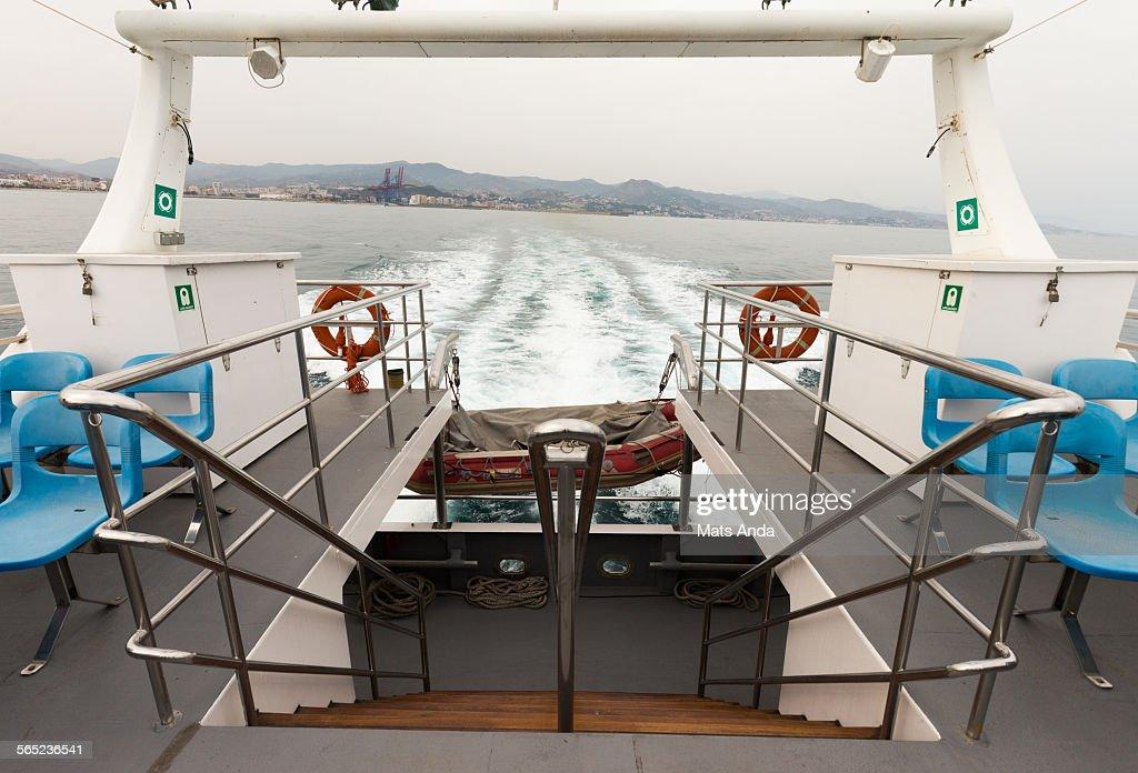 Leaving Málaga by boat