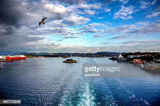 Leaving The Port of Stavanger, Norway By Boat
