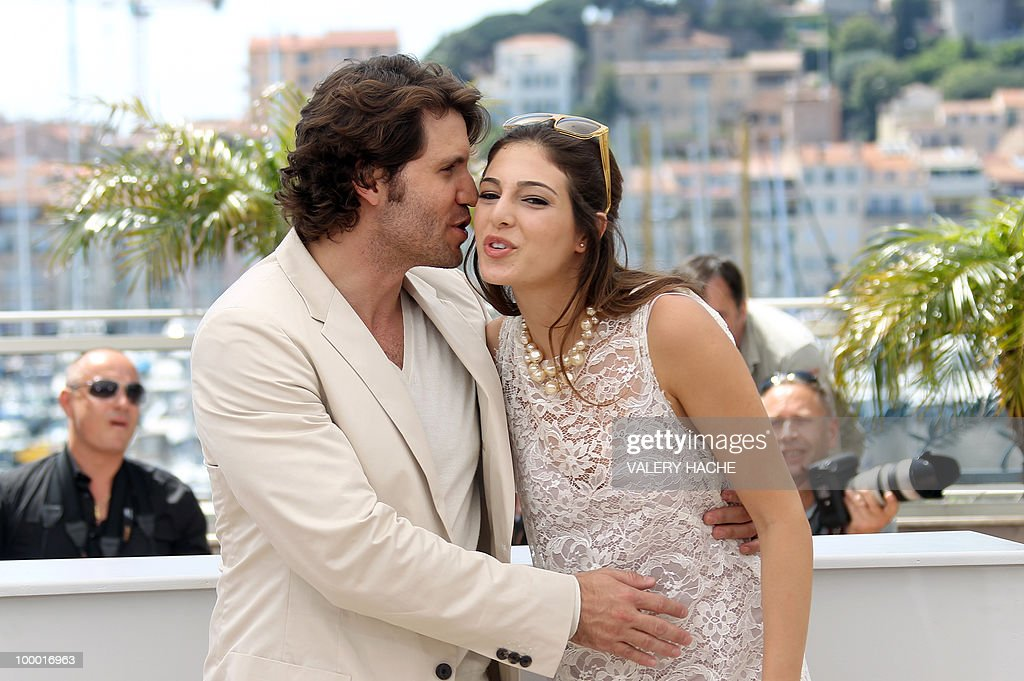 Lebanese actress Razan Jammal and Venezuelian born actor Edgar Ramirez pose during the photocall of 'Carlos' presented out of competition at the 63rd Cannes Film Festival on May 20, 2010 in Cannes.