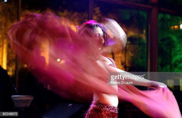 Lebanese belly dancer performs her show at the Arts River Restaurant in Jounieh on February 25 25 Km north of Beirut LebanonTens of thousands of...