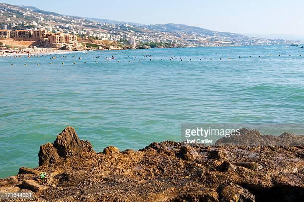 Libanais côte et des plages de Byblos (Jbeil)