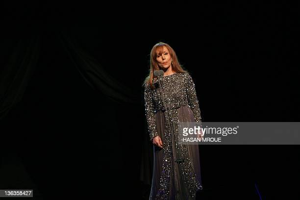 Lebanese diva Fairuz performs at the Arad Fort in Manama late March 12 2008 Fairuz's recitale in the Gulf kingdom included highlights from her...