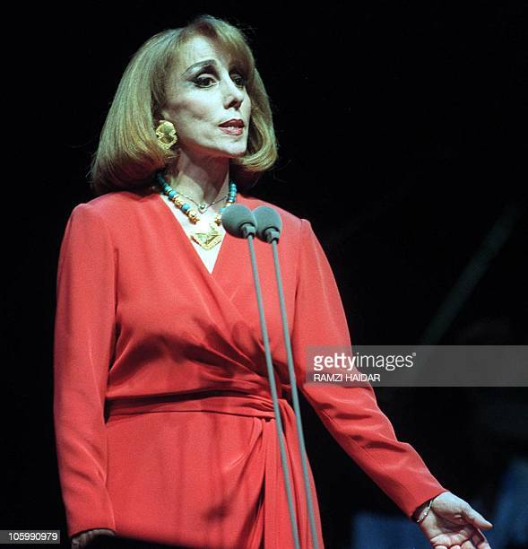 Lebanese diva Fairuz performs at the Beiteddine festival 04 August 2000 The immensely popular singer who stopped performing during her country's...
