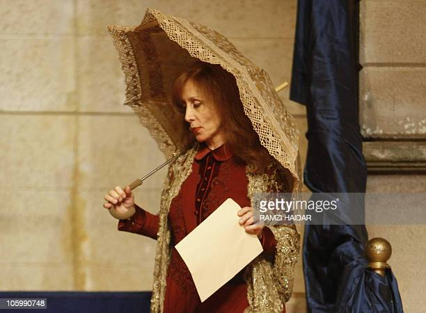 Lebanese diva Fairuz performs in 'Sah elNom' in the Gulf emirate of Sharjah on May 2 2008 Fairuz took her popular 1971 Rahbani Brothers' musical 'Sah...