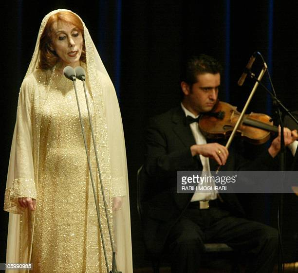Lebanese diva Fairuz sings at the American University of Dubai 29 April 2002 The Arab world's top singer who began her career in the early 1950s...