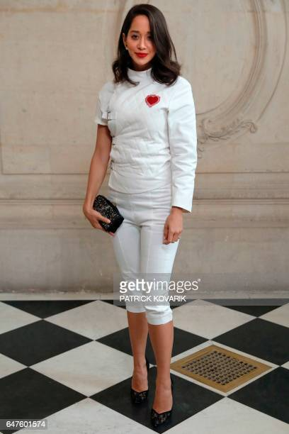 Lebanese fashion blogger Lana El Sahely poses during the photocall before the Christian Dior women's FallWinter readytowear collection fashion show...