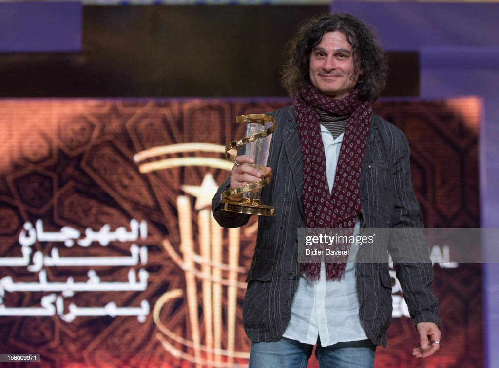 Lebanese Film director Ziad Doueiri wins the Golden Star award for his movie 'The Attack' at 12th International Marrakech Film Festival on December 8, 2012 in Marrakech, Morocco.