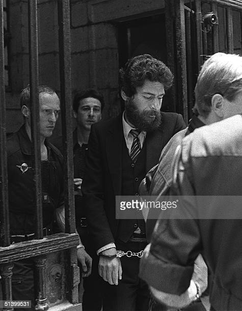 Lebanese Georges Ibrahim Abdallah comes out of the courthouse in Lyon 10 July 1986 after being condemned to 4 years jail Abdallah a pro Palestinian...