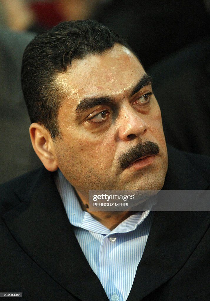 Lebanese militant and convicted murderer Samir Kantar attends a ceremony in Tehran on January 29, 2009, to honour the Iranian political prisoners of the shah's regime before the Islamic revolution. Kantar, who was controversially freed by Israel in a prisoner swap last year, called for the destruction of Israel during a visit to Tehran on January 29.