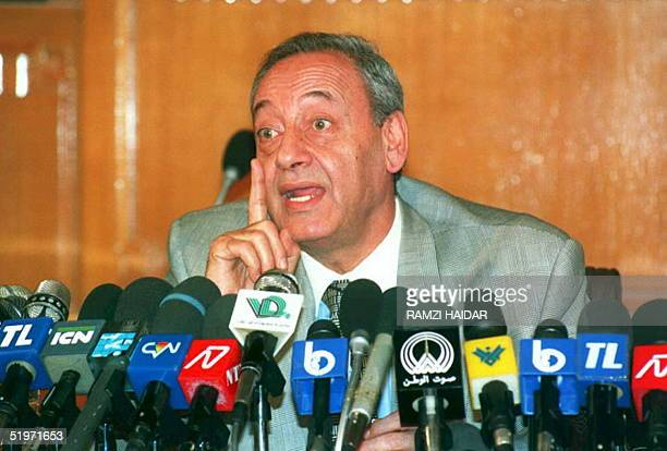 Lebanese Parliament Speaker Nabih Berri announces 09 March in the capital Beirut that the government was planning a cabinet meeting 14 March in...