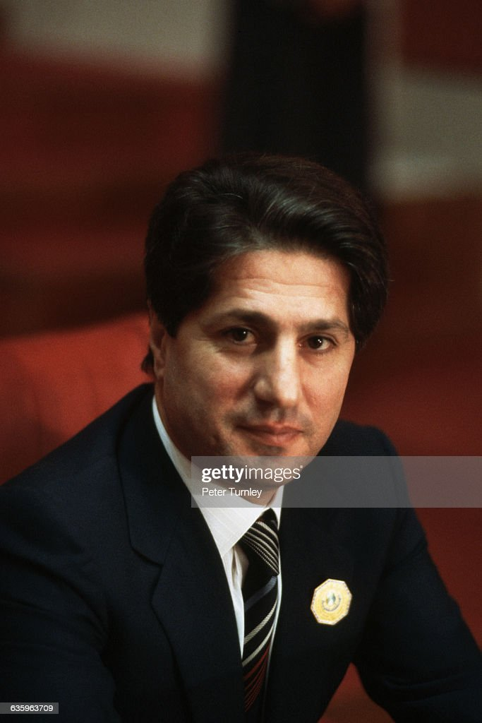 Lebanese President <a gi-track='captionPersonalityLinkClicked' href=/galleries/search?phrase=Amin+Gemayel&family=editorial&specificpeople=707662 ng-click='$event.stopPropagation()'>Amin Gemayel</a>