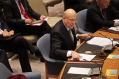 Lebanese Prime Minister Najib Mikati chairs a meeting of the United Nations Security Council on September 27 2011 in New York City The global body...