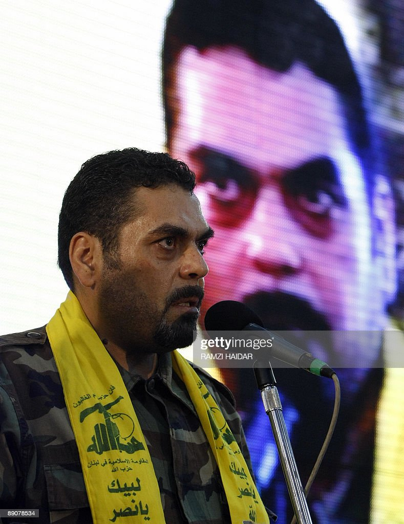 Lebanese Samir Kantar, a prisoner freed by Israel during a prisoner swap, speaks during a celebration marking the first anniversary of the swap between Hezbollah and Israel, in Beirut on July 17, 2009. The July 16, 2008 prisoner swap included the return of 199 bodies, along with the release of the remaining five Lebanese prisoners in Israel. In exchange, Hezbollah handed over the bodies of two Israeli soldiers captured in a cross-border raid on July 12, 2006, sparking a devastating 34-day war.