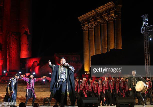 Lebanese singer Assi Hallani performs during the opening of the Baalbek international festival in central Lebanon on July 30 2014 AFP PHOTO/STR