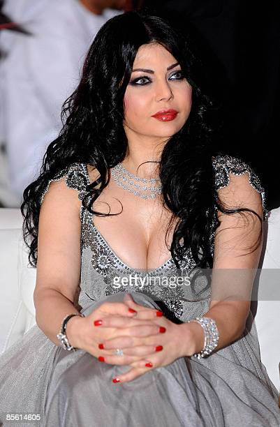 Lebanese singer Haifa Wehbe attends a ceremony marking the 30th anniversary of the UAEbased lifestyle magazine 'Zahrat alKhaleej' in Dubai late on...