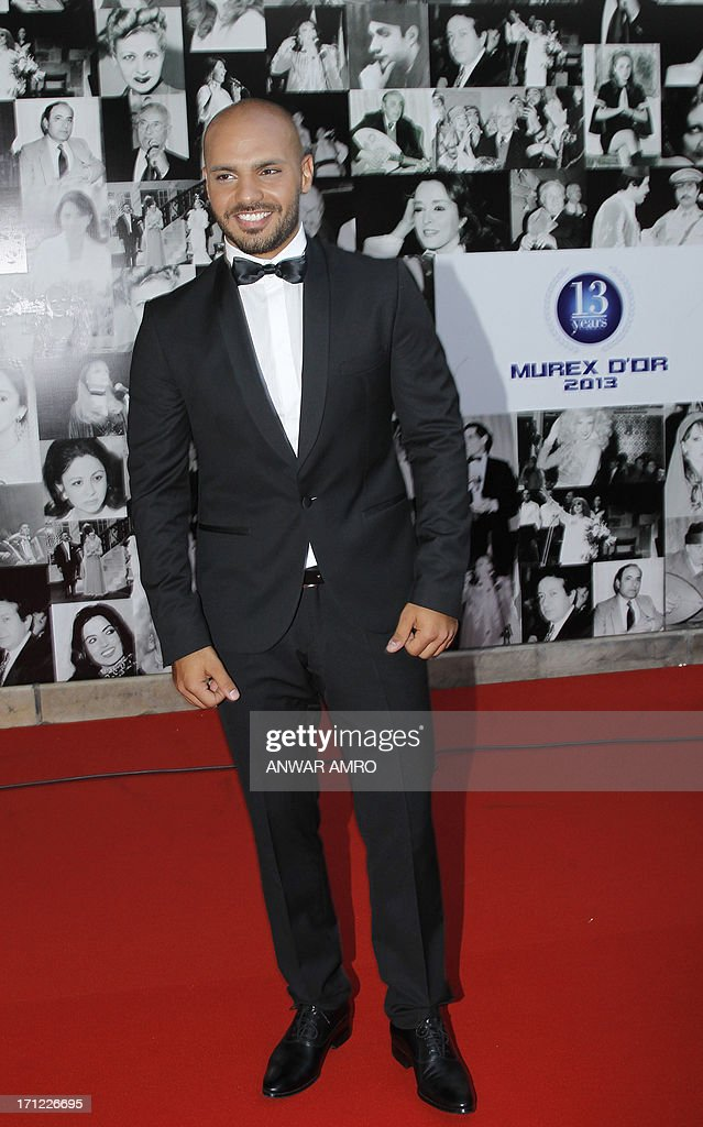 Lebanese singer Joseph Attieh arrives for the 13eme Murex D'or Festival taking place at the Casino Du Liban, north of the capital Beirut, on June 23, 2013.