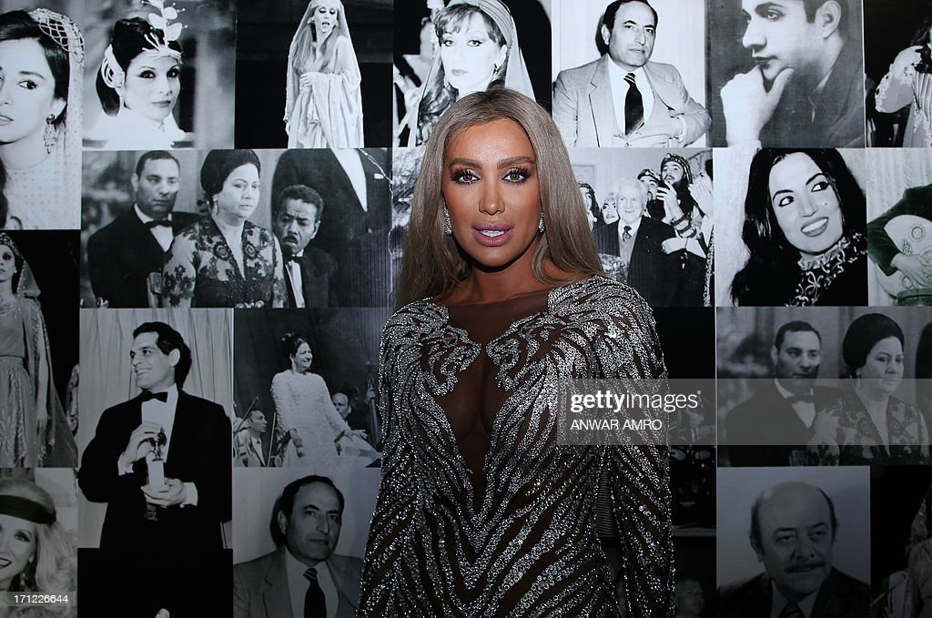 Lebanese singer Maya Diab arrives for the 13eme Murex D'or Festival taking place at the Casino Du Liban, north of the capital Beirut, on June 23, 2013.