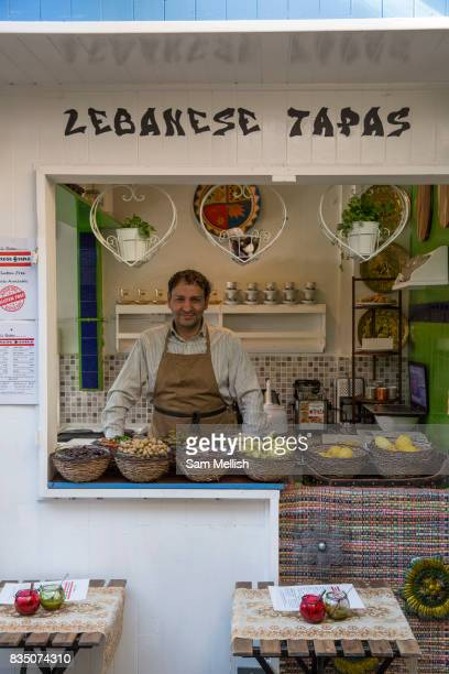 Lebanese Tapas food stall at Blackrock Market on 08th April 2017 in County Dublin Republic of Ireland Longrunning market with over 30 eclectic stalls...