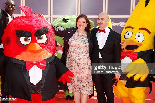 Lebanese TV presenter Raya Abirached and Italian actor Maccio Capatonda attend 'The Angry Birds Movie' Photocall during the 69th annual Cannes Film...