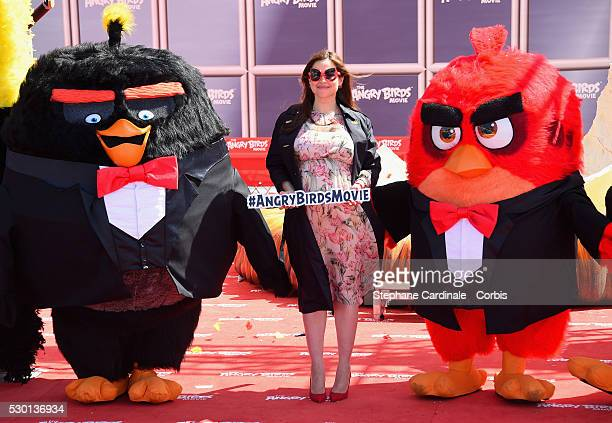 Lebanese TV presenter Raya Abirached attends 'The Angry Birds Movie' Photocall during the annual 69th Cannes Film Festival at JW Marriott on May 10...
