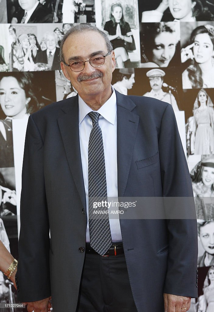 Lebanese writer Choukri Anis Fakhoury arrives for the 13eme Murex D'or Festival taking place at the Casino Du Liban, north of the capital Beirut, on June 23, 2013.