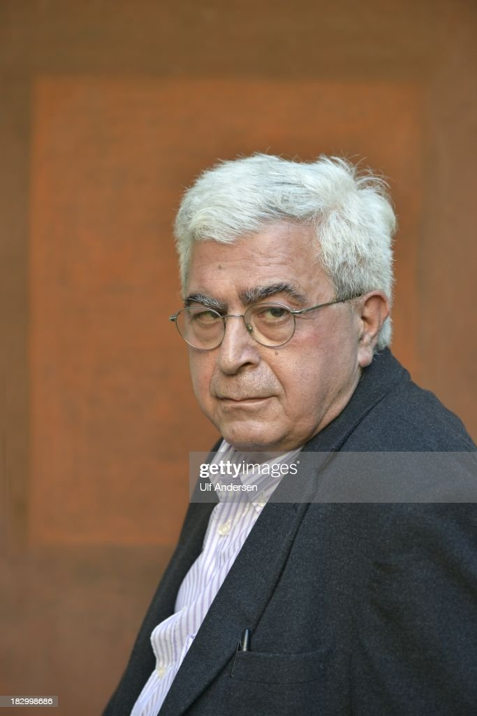 PARIS, FRANCE - SEPTEMBER 24. Lebanese writer Elias Khoury poses during a portrait session on September 24, 2013 in Paris, France.