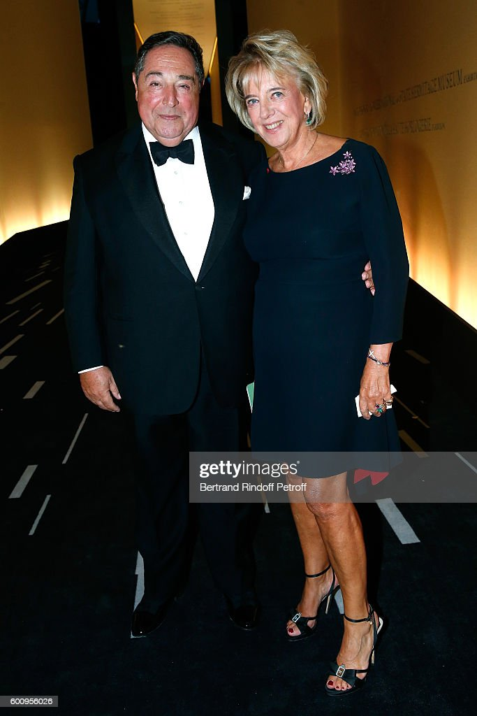 Lebanese-born composer and poet Bechara El-Khoury and his wife Alexandra El-Khoury attend the 28th Biennale des Antiquaires : Pre-Opening at Grand Palais on September 8, 2016 in Paris, France.