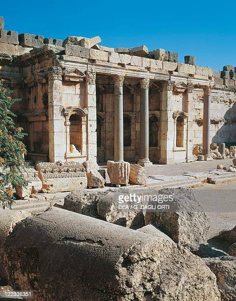 Lebanon Baalbek Temple of JupiterBaal courtyard portico and exedra